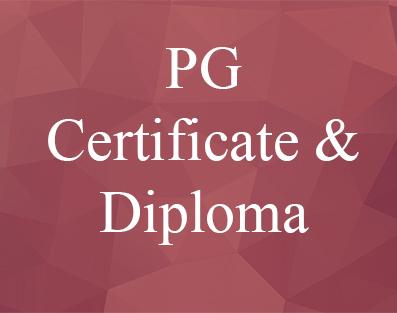 Post Graduate Certificate & Diploma